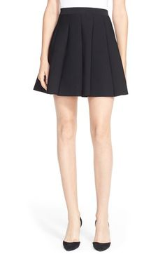 Parker 'Zoey' Pleat A-Line Skirt available at #Nordstrom
