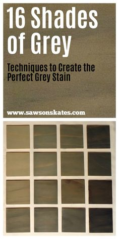 Looking for grey stain ideas for wood? Here are 16 options from weathered grey to warm and dark colors. This DIY how to tutorial shows you how to make the perfect gray stain for pine cabinets and vanities or furniture like tables, dressers and headboards.