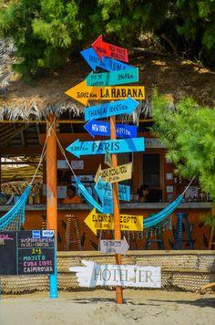 Beach Bar in Mancora, Piura, Peru