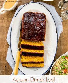 Autumn Dinner Loaf #vegan #plantbased #oilfree #Thanksgiving #meatloaf #glutenfree #wfpb www.plantpoweredkitchen.com