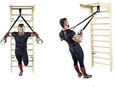 Wooden Wall Bars - Stall Bars For Home Fitness and Exercising Workout Room Home, Gym Room At Home, Home Gym Decor, Workout Rooms, At Home Workouts, Exercise Rooms, Post Baby Workout, Sport, Casa Loft