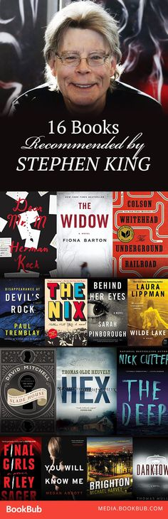 16 books recommended by Stephen King. This list includes a great mix of mysteries, thrillers, and other great fiction novels.