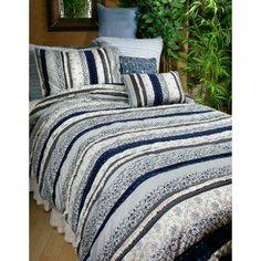 Stylish, country bedding.