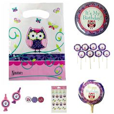 Owl Pal Birthday Party Loot Bag Collection for 8 Kids
