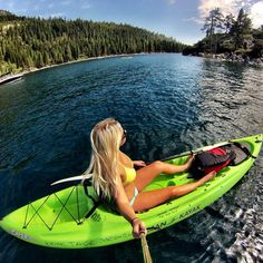 GoProGirl @the_ashley_rae kayaking at the Emerald Bay, Lake Tahoe. #GoPro #GoProGirl #kayak #emeraldbay #laketahoe #wanderlust #nature