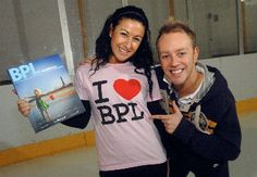 Hayley Tamaddon and Dan Whiston with the Blackpool Guide