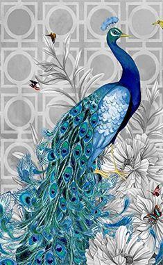 diamond embroidery diy diamond Painting peacock pictures diamond mosaic Needlework diamond picture home decor canvas Peacock Painting, Peacock Art, Diy Painting, Peacock Room, Peacock Colors, Pfau Tattoo, Peacock Pictures, Diamond Picture, Blue Poster