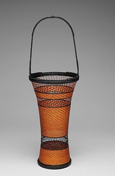 Basketry, Tanaka kyokusho, Artist, Pine Needle Pattern Flower Basket ...