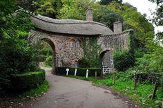 The stunning Worthy Road Toll House near Porlock in Somerset, England