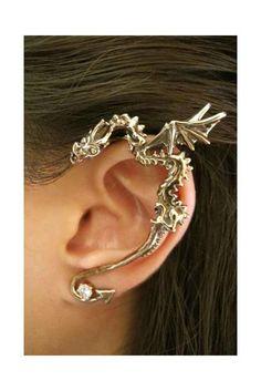 Dragon de bronze classique oreille Wrap par martymagic sur Etsy, $68.00