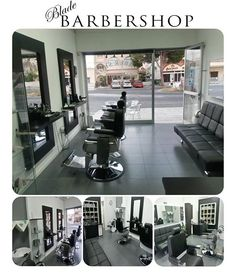 Barber Shop Interior, Barber Shop Decor, Hair Salon Interior, Home Salon, Barber Store, Barbershop Design, Barbershop Ideas, Small Salon, Salon Furniture