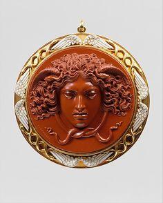 Head of Medusa Cameo by Benedetto Pistrucci, Italian, 1783-1855