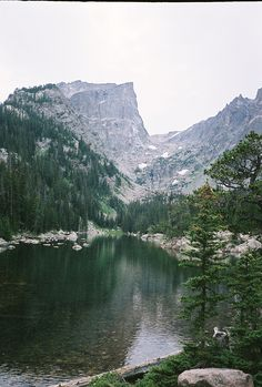 How I long to sit here again at Dream Lake, Rocky Mt. Park.