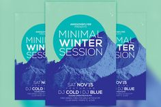 Check out Minimal Winter Party Flyer Template by Flyermind on Creative Market