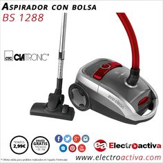 ¡Elegante Y potente! Aspirador CLATRONIC BS 1288 con bolsa http://www.electroactiva.com/clatronic-aspirador-bs-1288-gris-rojo.html #Elmejorprecio #Aspirador #Electrodomesticos #PymesUnidas