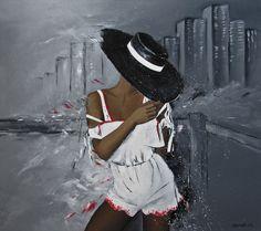 "Magdalena Serwin ""Ukryte zamiary"" Source Of Inspiration, Figure Painting, Rose Petals, Panama Hat, Texture, Gallery, Artwork, Beautiful, Ios"