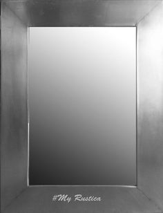 Rectangular mirror with smooth finishing is rustic and modern looking. Use Rustica House metal mirrors for a bathroom, foyer wall or above a fire place. #myrustica
