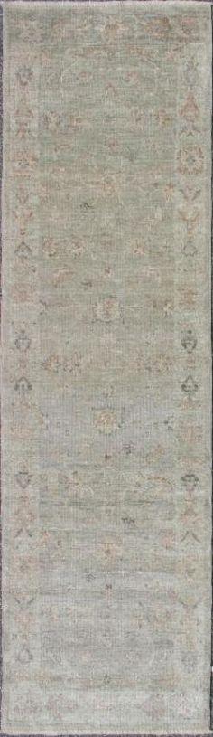 "KEIVAN WOVEN ARTS,  Type :Oushak Origin :Turkey Design :All Over Material :Wool Texture :Pile Size : 2'7""x9'1"""