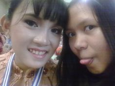 with my sister