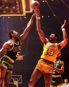 Two of the greatest players of all time. Wilt Chamberlain vs Bill Russell. #champions