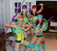 teenage mutant ninja turtle girls costume Sexy ninja turtles…please see the title of the board.