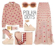 """REDValentino Polka-dot silk shirt"" by thestyleartisan ❤ liked on Polyvore featuring RED Valentino, Temperley London, Anya Hindmarch, Burberry, Max&Co., Chloé, Estée Lauder and Yves Saint Laurent"