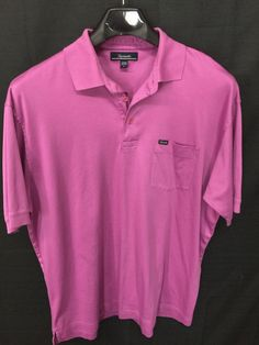 MENS LARGE FACONNABLE POLO SHIRT PURPLE CASUAL SHORT-SLEEVE #Faonnable #PoloRugby