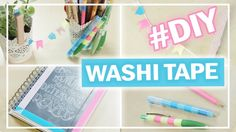 UPCYCLING mit WASHI TAPE #2 | 5 DIY Ideen + Hacks | Stifte, Terminplaner...