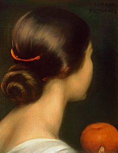 "Julio Romero de Torres, a Córdoba‑born artist (1874‑1930) known for his sensual portraits of women. ""viva el pelo"""