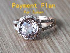 Custom Order For Susan 8mm Pink Morganite Ring 14k by ByLaris