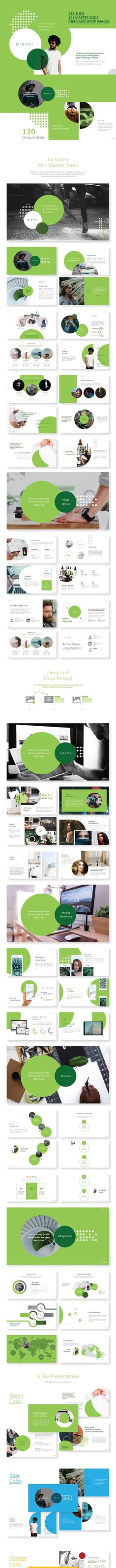 Orbital - Neue Minimalist Powerpoint Presentation by Benstudio73 | GraphicRiver Business Presentation, Presentation Design, Presentation Templates, Powerpoint Charts, Slide Design, Line Icon, Vector Icons, Make It Simple, Minimalist