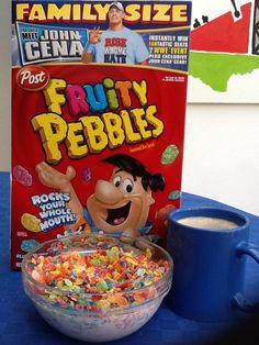 It's obviously thanks to John Cena (& The Rock) that i enjoy my bowl of Fruity Pebbles
