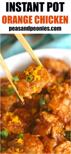 Instant Pot Orange Chicken is healthier than takeout and easy to make using your Instant Pot. Made with fresh orange juice and orange zest for great flavor. Instant Pot Pressure Cooker, Pressure Cooker Recipes, Pressure Cooking, Cooking Recipes, Healthy Recipes, Free Recipes, Cooking Pork, Cookbook Recipes, Delicious Recipes
