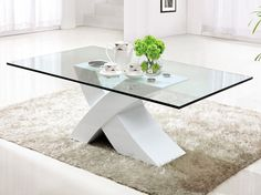 18 Glass Coffee Table Designs That Bring More Style Into You. 18 Glass Coffee Table Designs That Bring More Style Into You.- 18 Glass Coffee Table Designs That Bring More Style White Glass Coffee Table, Contemporary Glass Coffee Tables, Modern Coffee Tables, White Coffee, Glass Side Tables, Glass Table, Coffee Table Design, Decorating Coffee Tables, Living Room