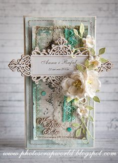 Scrapiniec inspirations он blogspot: Ślubnie и komunijnie/Wedding and First Общности cards