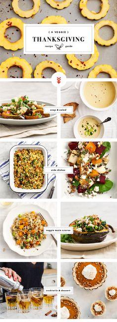 vegetarian thanksgiving recipe guide, blogged at love & lemons