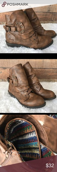 Blowfish Malibu Sz 9 Tribal Lining Ankle Boots Gorgeous ankle boots with Tribal print lining. Very Gently used with no flaws Blowfish Shoes Ankle Boots & Booties