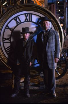 Still of Michael J. Fox and Christopher Lloyd in Back to the Future Part III