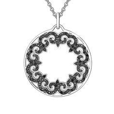 Colier și pandantiv Nahla Jewels cu zirconii negre