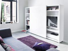 meuble tv caché porte coulissante                                                                                                                                                                                 Plus