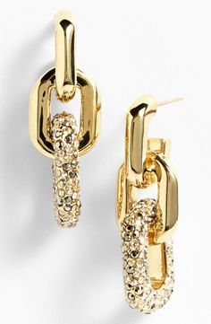 Dazzling crystal link earrings from the St. John Collection.