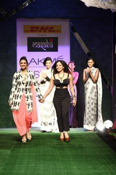 Indian Desinger Masaba at Lakme Indian Fashion Week as part of Summer 2013. Follow Strand of Silk to get the best of Beautiful Indian Fashion from leading Fashion Designers, including Contemporary Indian Fashion and Indian Bridal clothes like Saris, Anarkalis, Salwar Suits, Lenghas, Indian Jewellery.