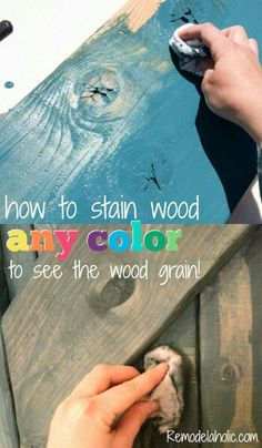 Cool Woodworking Tips - Color Washing To See The Wood Grain - Easy Woodworking Ideas, Woodworking Tips and Tricks, Woodworking Tips For Beginners, Basic Guide For Woodworking Diy Wood Projects, Furniture Projects, Diy Furniture, Painting Furniture, Furniture Plans, Reclaimed Wood Projects Signs, Wood Board Crafts, Pallet Projects Signs, Furniture Painting Techniques