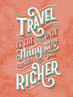 26 Letters Miles: Travel Posters by Lauren Hom Typography Quotes, Typography Letters, Typography Inspiration, Graphic Design Typography, Lettering Design, Design Inspiration, Quote Design, Lettering Ideas, Word Design