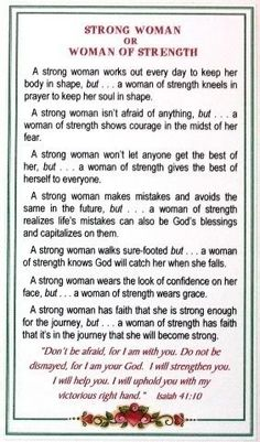 Strong woman CC