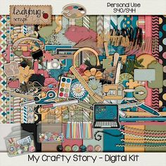My Crafty Story  Digital Scrapbooking Kit