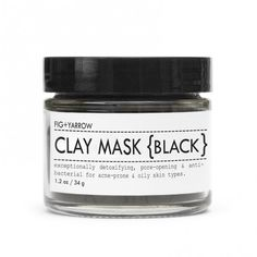 This charcoal clay mask is excellent for acne prone skin.