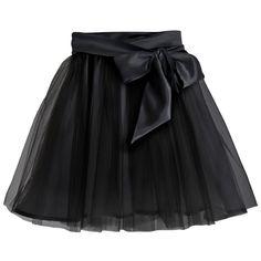 Fairytale Tulle Skirt with Satin Sash Black | Little Wardrobe London | Wolf & Badger