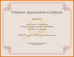 Thank you certificates for volunteers thiscertificate signed by sample volunteer certificate template 10 free documents in pdf psd yadclub Image collections