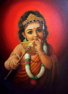 Lord Muruga is widely worshiped by many from all around the world. He is the son of Lord Shiva and Goddess Parvati and is the younger brother of Lord Ganesha. Shiva Art, Shiva Shakti, Krishna Art, Radhe Krishna, Krishna Leela, Shri Hanuman, Krishna Painting, Hindu Art, Lord Ganesha